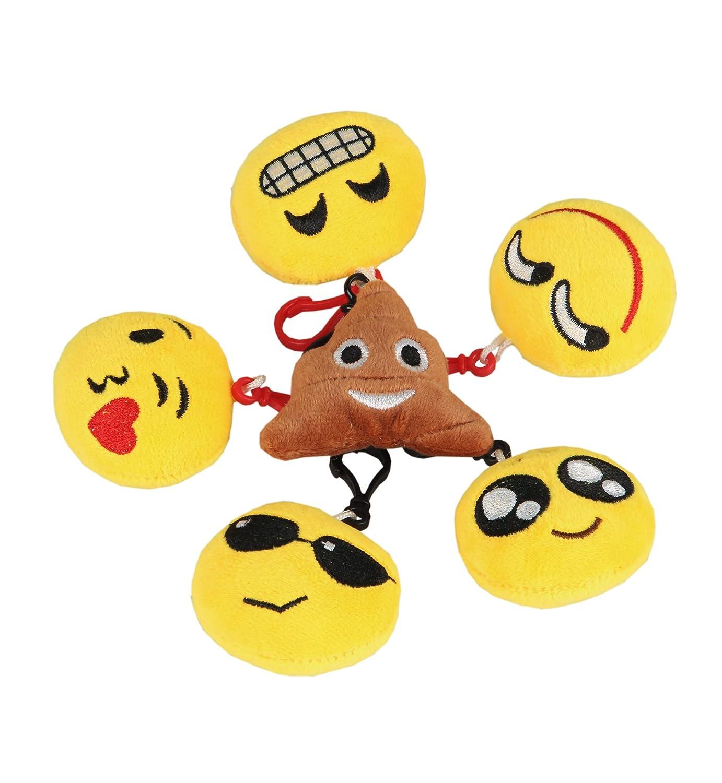 Sumolux Emoji Llaveros 6 Piezas Felpa Bolsa Colgante ...