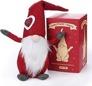 "ilauke Christmas Gnomes Decorations Ornaments 18"" Handmade Swedish Christmas Elf Tomte Christmas Goblin Ornaments Perfect Christmas Home Decoration"