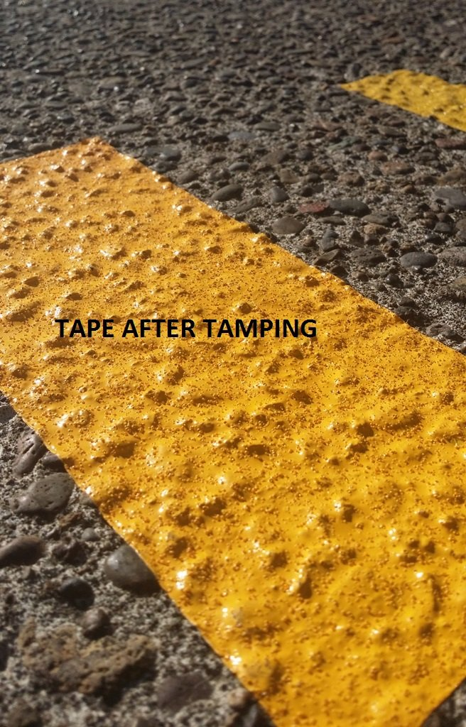 ifloortape White Reflective Foil Pavement Marking Tape Conforms to Asphalt Concrete Surface 2 Inch x 30 Foot Roll