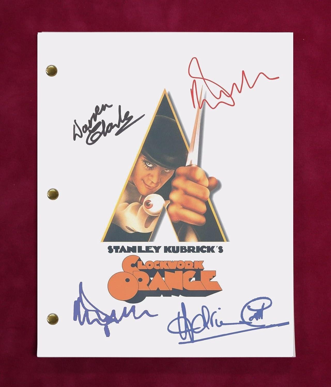 A Clockwork Orange Movie Script W/Repro Signatures McDowell, Magee, Bates C3
