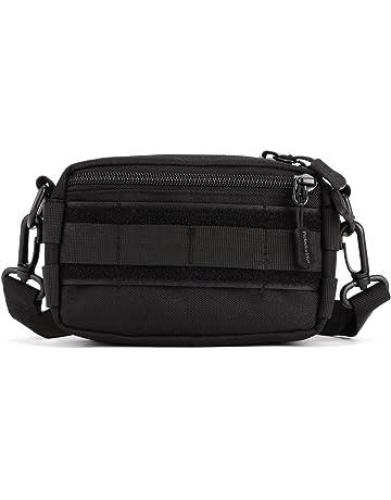 b23501dad88666 Huntvp Molle Pouch Tactical Utility Pack Crossbody Messenger Bag Waist Bum  bag Belt for Outdoors Hiking