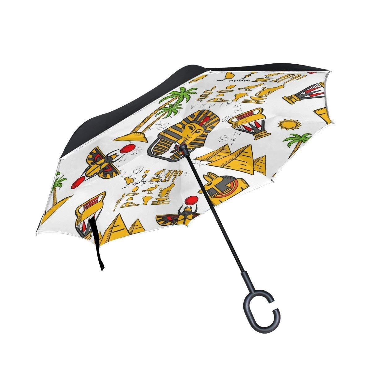 すべての同意Inverted逆傘トロピカルPoppy Flowers防風for Car雨アウトドア One Size カラー8 B07FS6J9S1