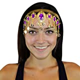 Hip Shakers Gold Crown Belly Dance Headband