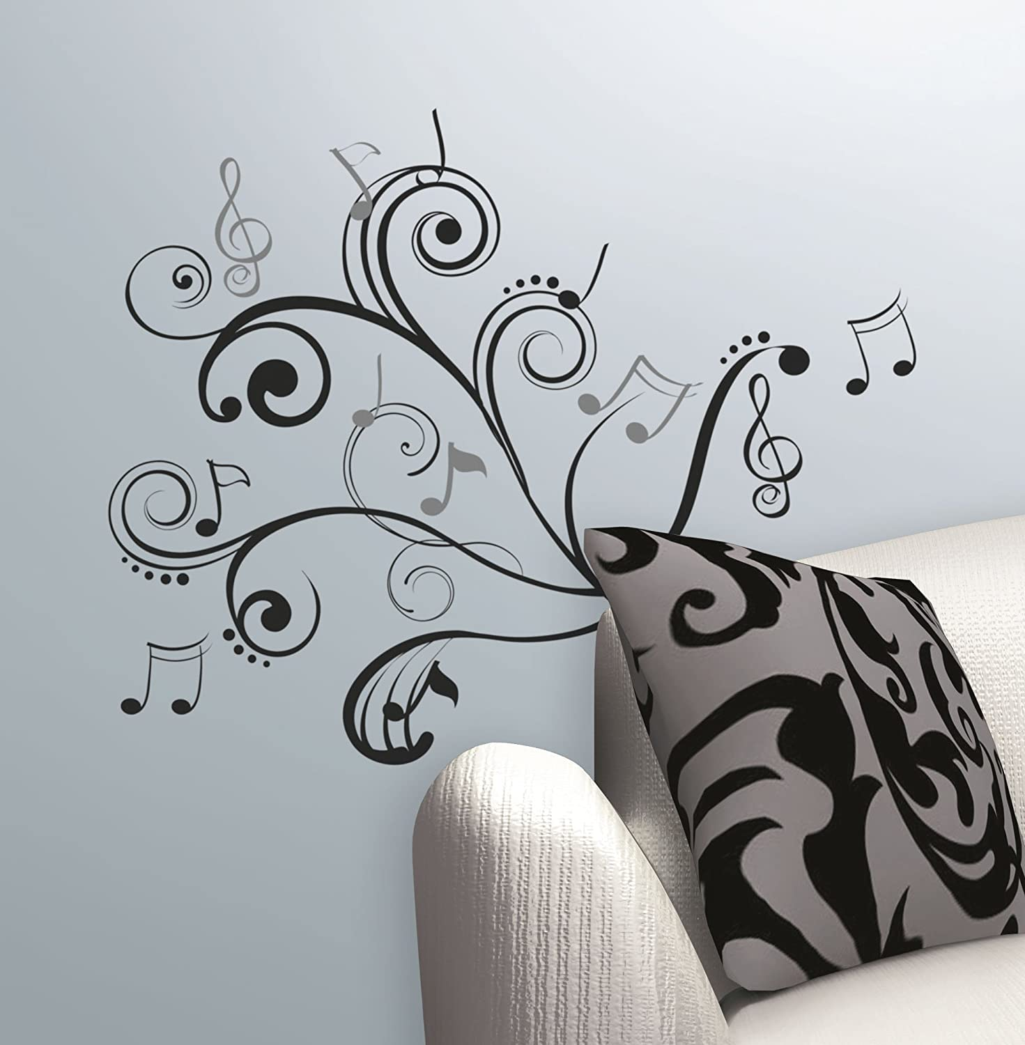 Roommates RMK2083SCS Music Scroll Notes Peel And Stick Wall Decals   Wall  Decor Stickers   Amazon.com