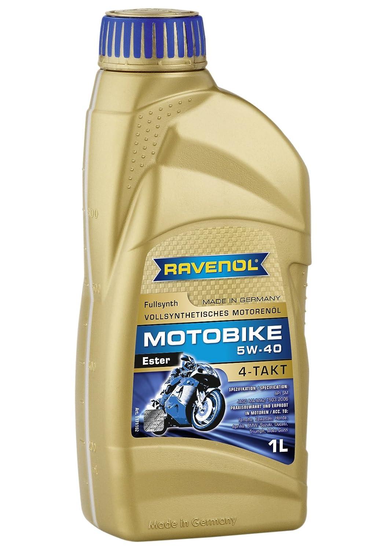 Ravenol j1 V1001 SAE 5 W-40 4ストロークオートバイオイル – 4-t Full SyntheticエステルJaso MA / ma2 ( 1リットル) B00OJHLESM