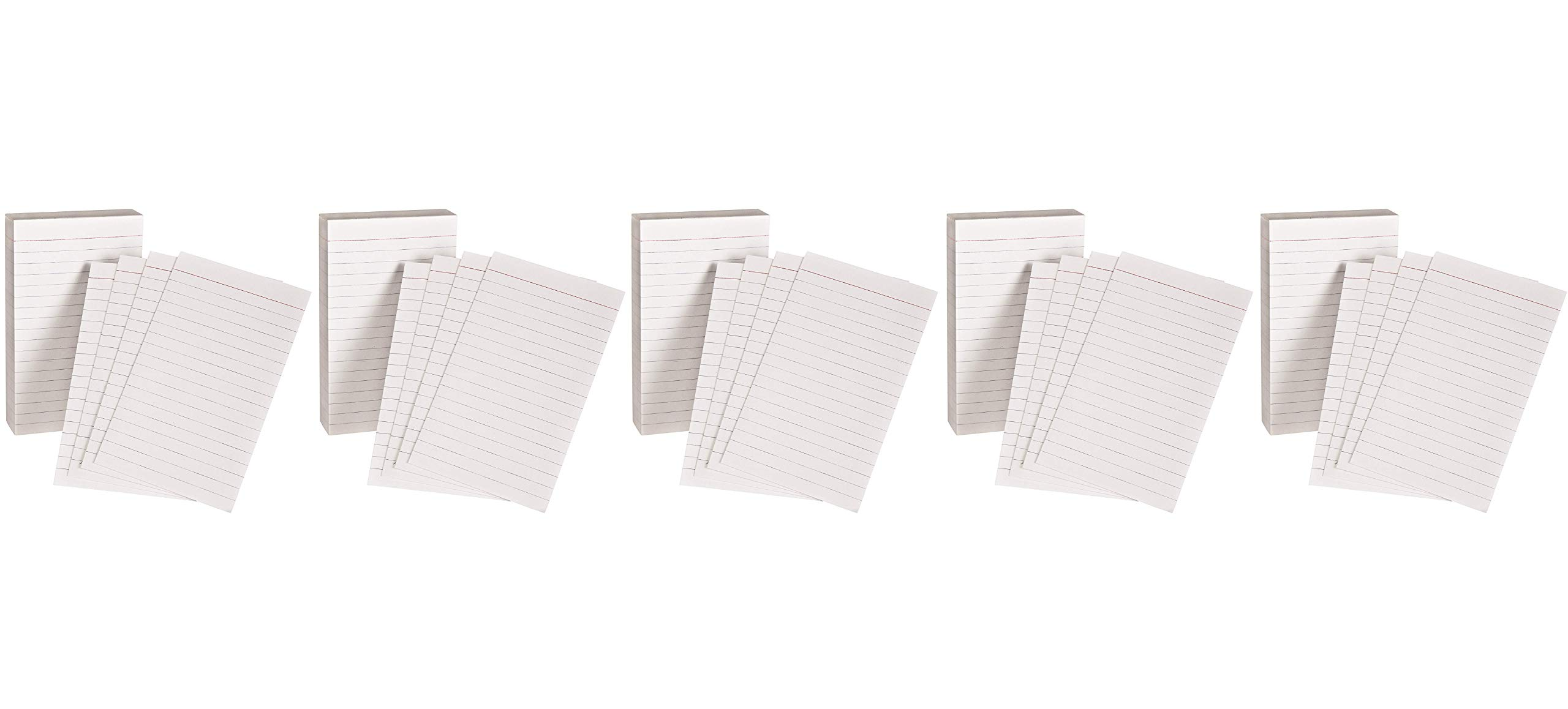 Oxford Padded Memo Ruled Index Cards, White, 5 x 3 Inches, 100 per Pack (006351) (5)