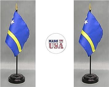 """Curacao 4/""""x6/"""" Flag Desk Table Stick"""