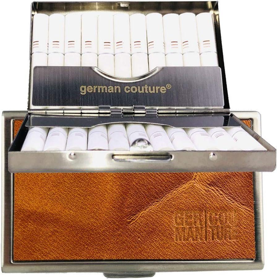 German Couture® Original - Pitilleras, Caso, Funda para iQOS heets con Precioso Cuero Vintage Premium GC Etui Adecuado para Soporte + Cargador 2.4 3 Duo Plus Multi