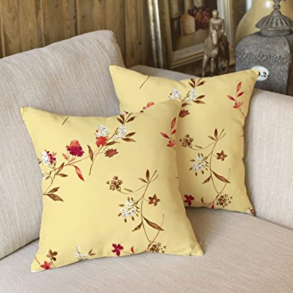 Alicia Haines Pillow Sofa Home Decorated Flower Pattern.18 X 18 (2 Pack)