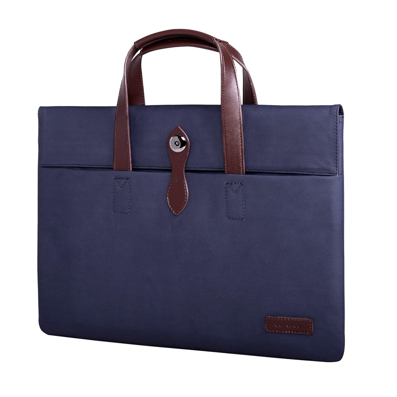 Laptop Briefcase, 13.3 inch Waterproof Laptop Bag, Business Office Bag Handbag for Men Women Laptop Sleeve Carrying Case Protective Bag for MacBook Touchbar 13/iPad Pro/Notebook Chromebook 13, Blue