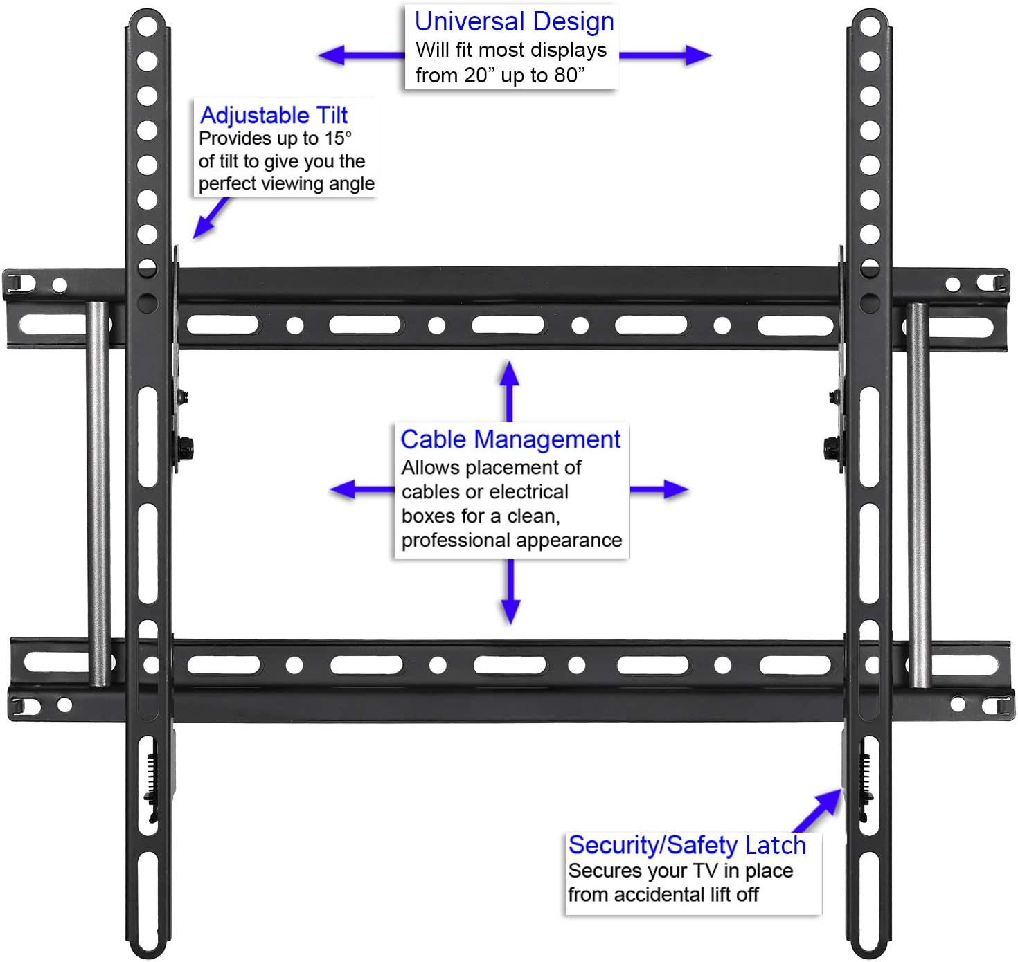Cheetah Mounts APTMM2B - Soporte de pared para TV de 20-80