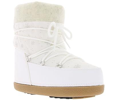 Heine Schnee Boots Schuhe Stiefel Eskimo Boots Weiß