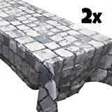 Cobblestone Tablecovers (2), Medieval Party Supplies, Knight Themed Events, Pixel Parties, Castle Table Settings