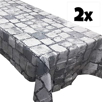 Amazon.com: Blue Orchards Cobblestone Tablecovers (2), Medieval ...