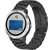 YockTec Garmin Vivoactive 3 Band Strap-Bracelet en acier inoxydable Bracelet de remplacement de poignet /bracelet avec Unique Smart Magnet Fermoir pour Garmin Vivoactive 3 Smart Fitness Watch