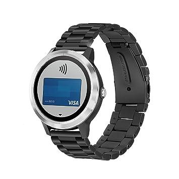 YockTec Garmin Vivoactive 3 Band Strap-Bracelet en acier inoxydable Bracelet de remplacement de poignet