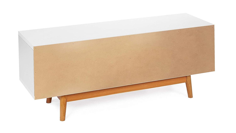 ts-ideen Sideboard Kommode Lowboard TV-Bank Weiss Grau Dunkelgrau 120 x 50 cm