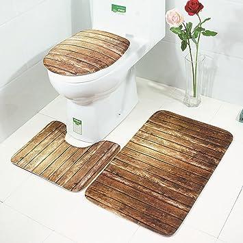 Zantec 3 Teiliges Badezimmerteppich Mit Schmetterlingssteinen