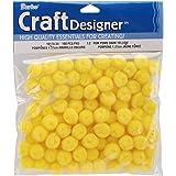"Darice 100 Yellow Craft Pom Poms (1/2"")"