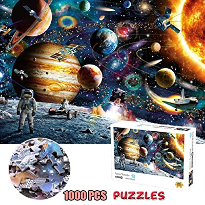 Space Puzzle,1000 Piece Puzzle for Adults Kids,Space Traveler Jigsaw Puzzle,16.54 x 11.69 inches,Planets in Space Jigsaw Puzzle: Toys & Games