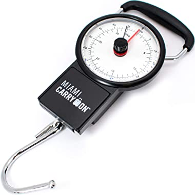 Mechanical Luggage Scale/Fishing Scale with Tape Measure, Up to 75 Pounds / 34KG