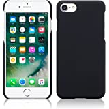 CELLBELL® Rubberized Matte Hard Back Cover Case For Apple iPhone 8 (Black Matte)