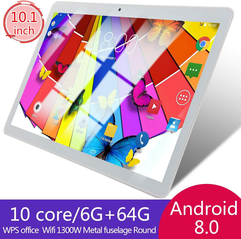 DishyKooker 8.0 6 + 64 GB, Ranura para Tarjeta TF, c/ámara Dual, Productos electr/ónicos para Regalos Tablet de 10