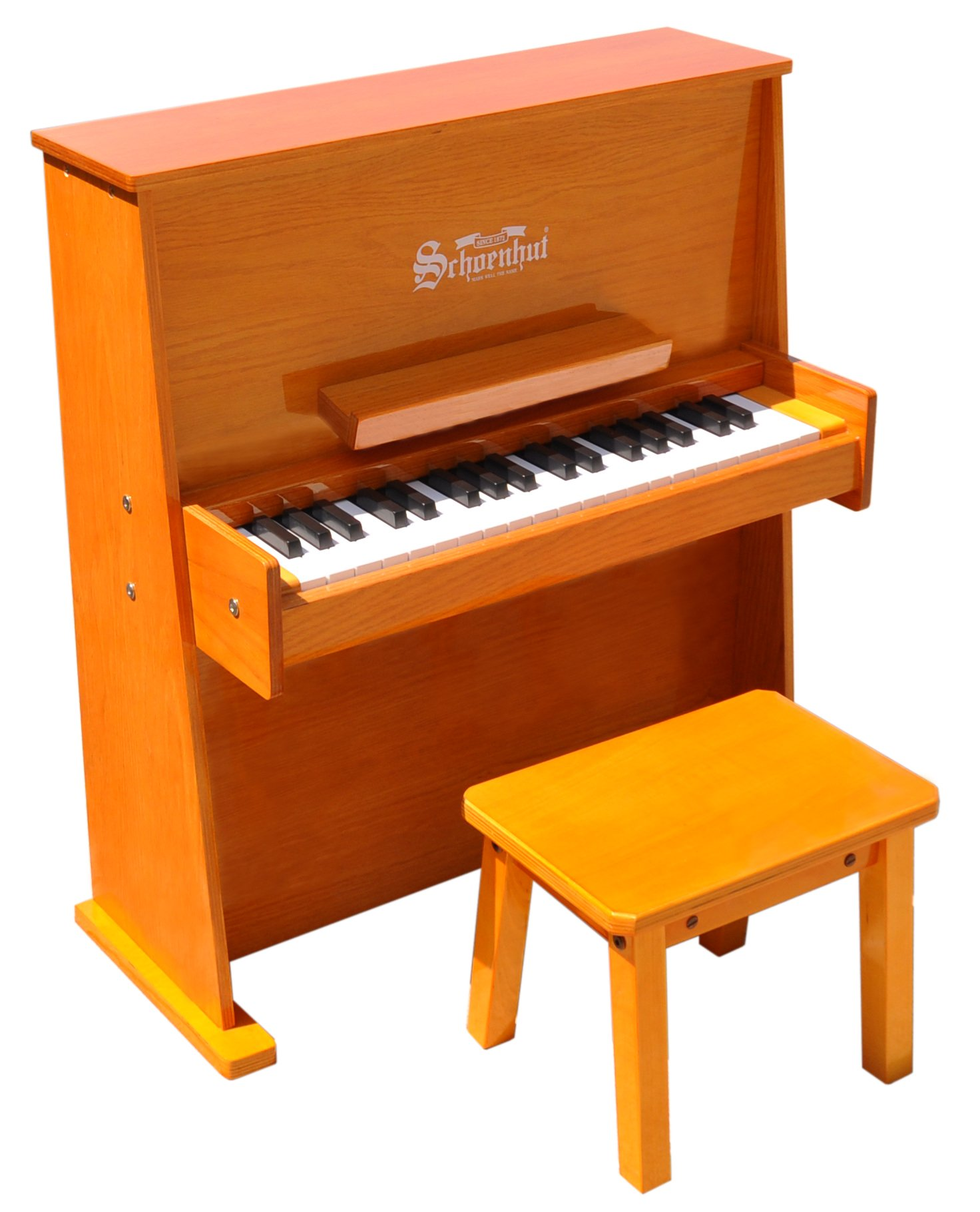 Schoenhut 3798O - 37 Key Day Care Durable with Bench (Oak)