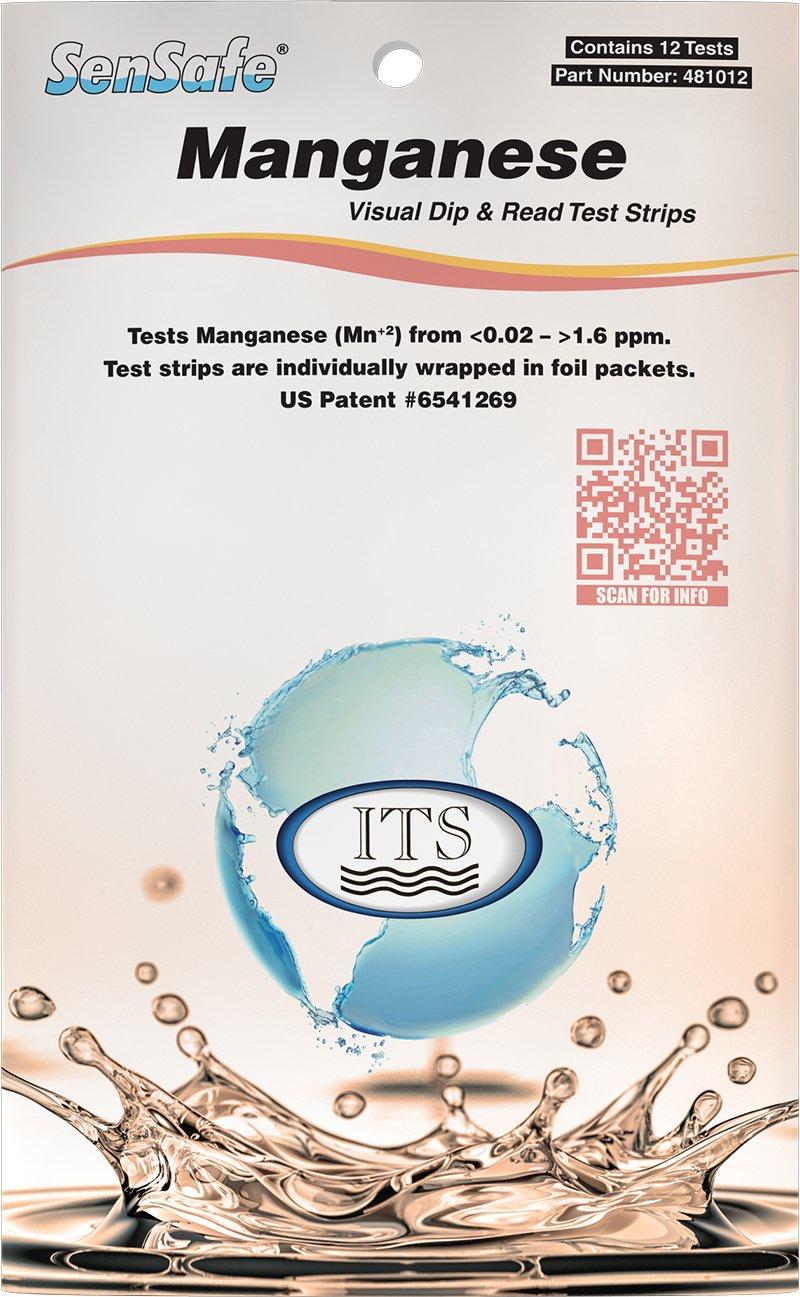 Industrial Test Systems 481012 Sensafe Manganese Water Test Strip Kit 12 Tests