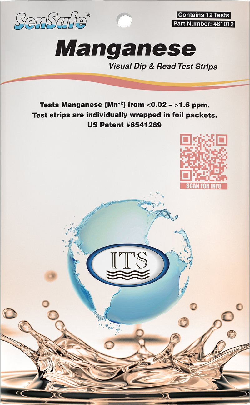 Industrial Test Systems 481012 Sensafe Manganese Water Test Strip Kit 12 Tests by Industrial Test Systems