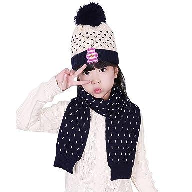 6cfb38e09b2 Kingko® Fashion Kids Baby Hat Scarf Boys Girls Infant Children Winter Warm  Hats Caps (
