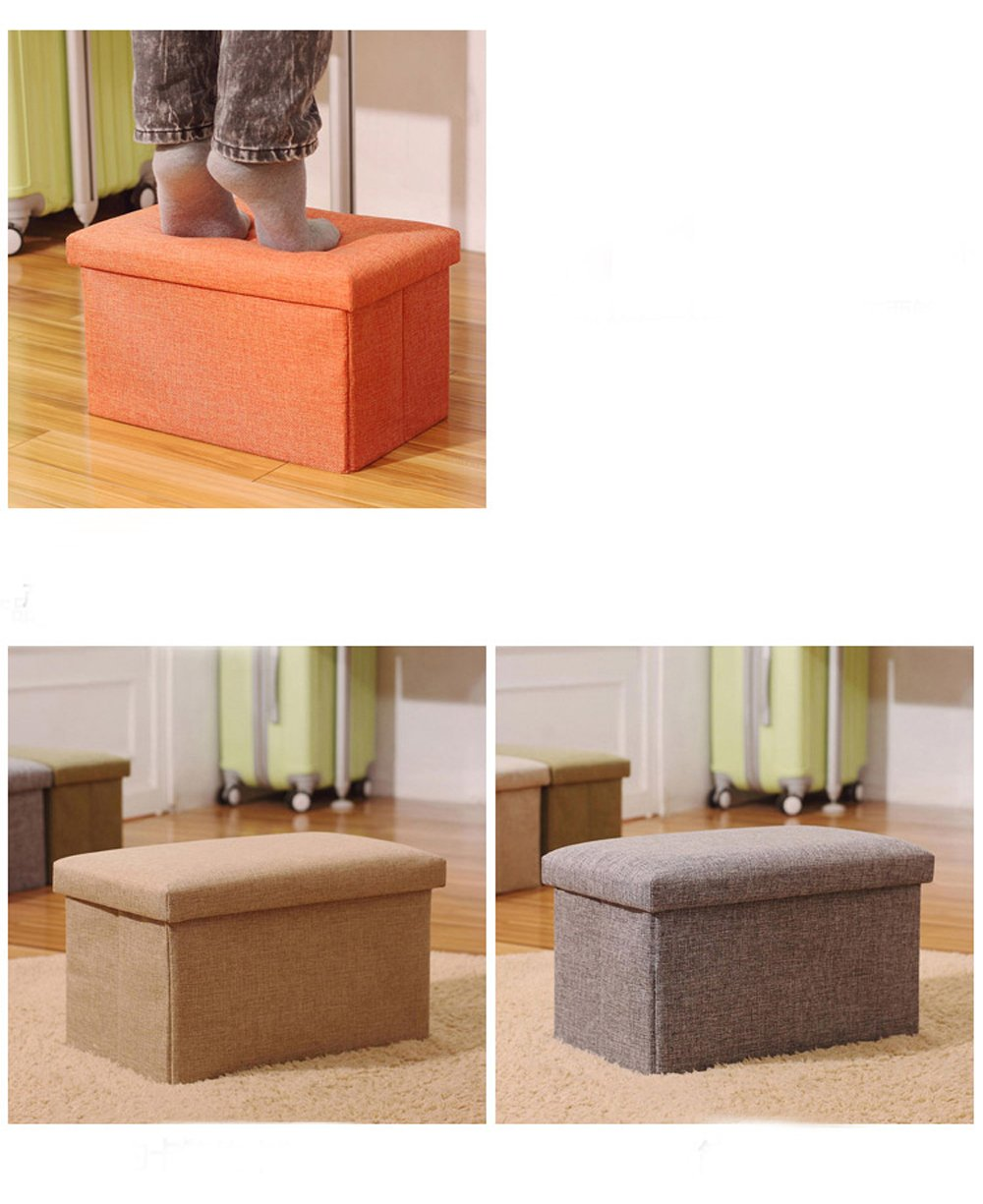 Orange, 16x10x10 Inoutdoorkit Storage Ottoman