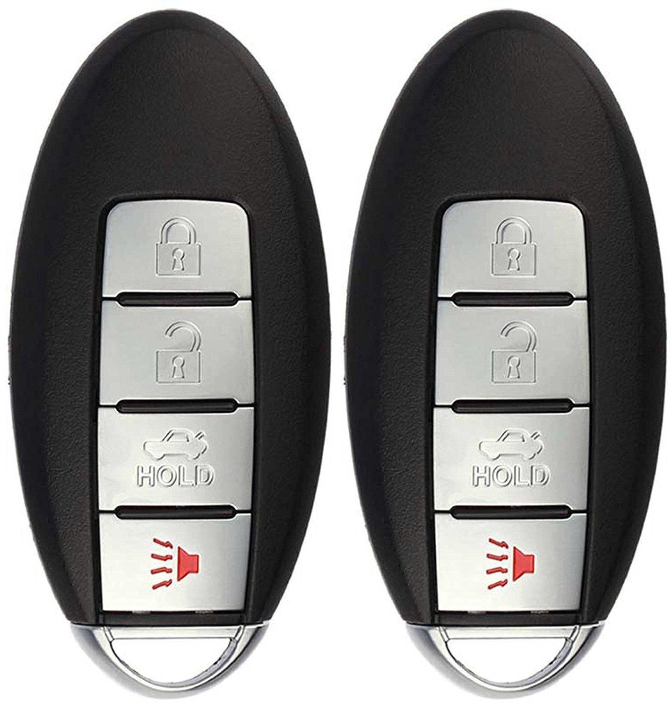 Pack of 2 KeylessOption Keyless Entry Remote Smart Car Key Fob Alarm for Nissan 2016 2017 Altima Maxima