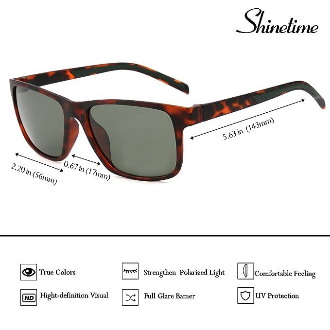 Gafas de sol clásicas, Shinetime Gafas de sol Wayfarer polarizadas clásicas conducción pesca protección UV400 para Men TR-90 Frame (Gris): Amazon.es: Ropa y ...