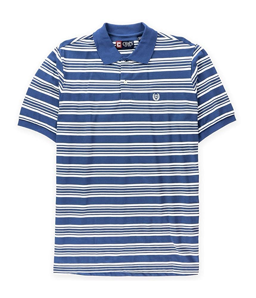 192adca3b Chaps Mens Striped Logo Rugby Polo Shirt Blue Big 2X - Big   Tall at Amazon  Men s Clothing store