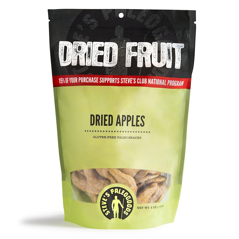 Steve's PaleoGoods, Dried Fruit Dried Apples, 6oz (Pack of 3)