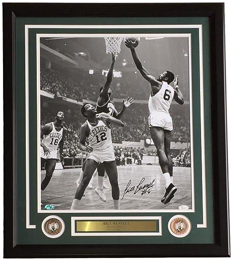 Bill Russell Signed Framed 16x20 Boston Celtics Lay Up Photo JSA at ... 109eca601