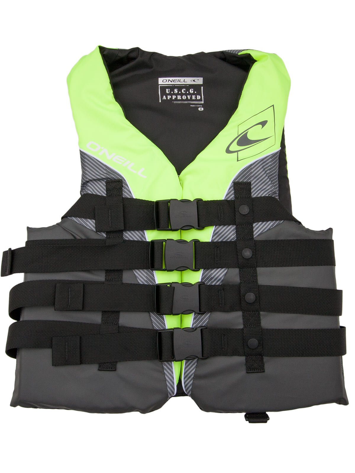 O'Neill Mens Superlite USCG Life Vest 4XL Lime/Graphite/Smoke/White (4723) by O'NEILL