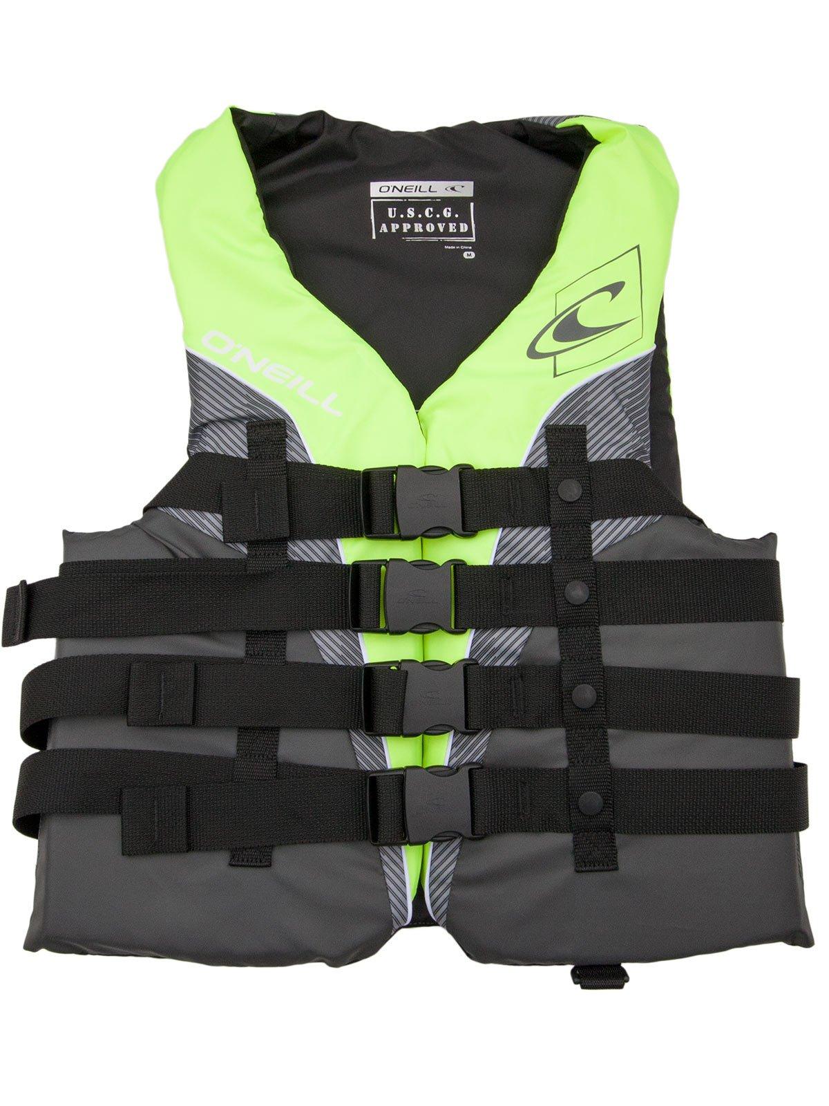 O'Neill Mens Superlite USCG Life Vest XL Lime/Graphite/Smoke/White (4723)