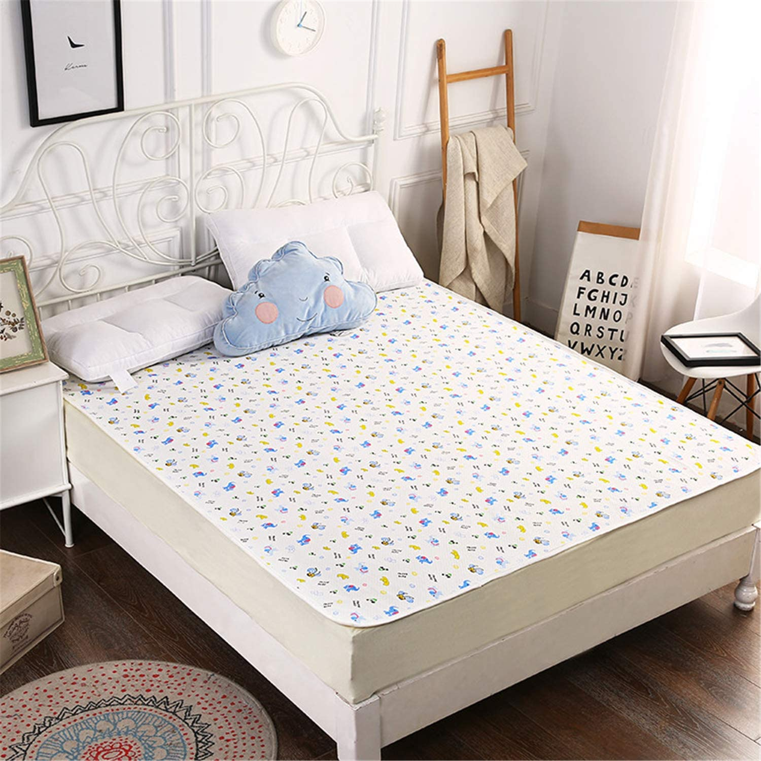 Machine Washable Anti-Allergenic and Breathable Easy to Use Ready Steady Bed Quilted Replacement Cot Bed Mattress Cover 140cm x 70cm x 10cm Protect and Prolong