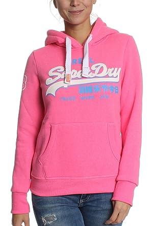 le prix reste stable recherche d'officiel gros en ligne Superdry - Sweat-Shirt - Femme Rose Bonbon