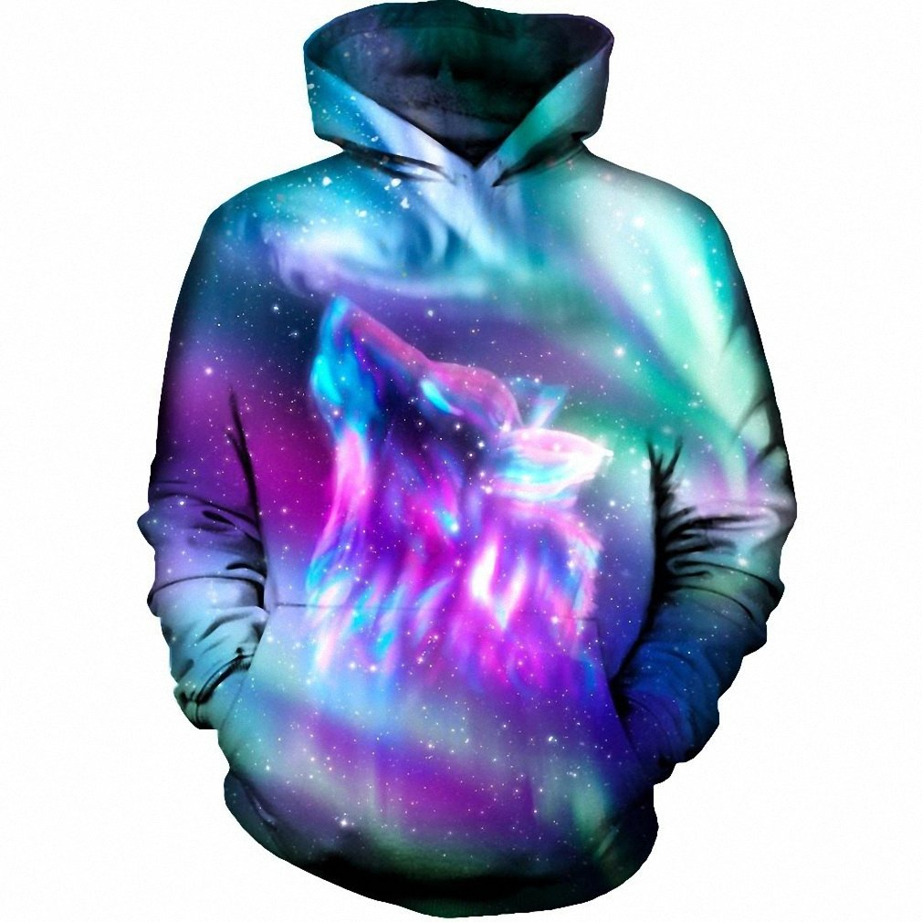 Amazon.com: Space Galaxy Wolf Hoodies Men NEW Pullover Hoodie Sweatshirt New Fashion Hip Hop Sportswear 3D Hoody Hooded Dropship hoodies men M: Clothing