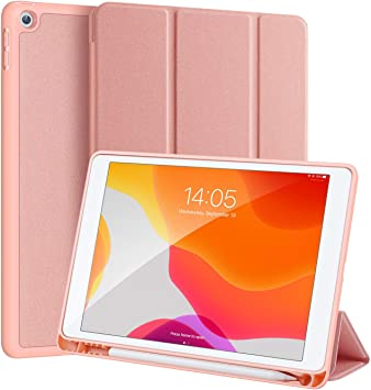 Case for iPad 10.2 2019 Premium Leather Soft TPU Back Case ShockProof Slim Lightweight Protective Stand Case Smart Cover with Pencil Buckle Pocket for iPad 7th Generation 2019 10.2 Inches love