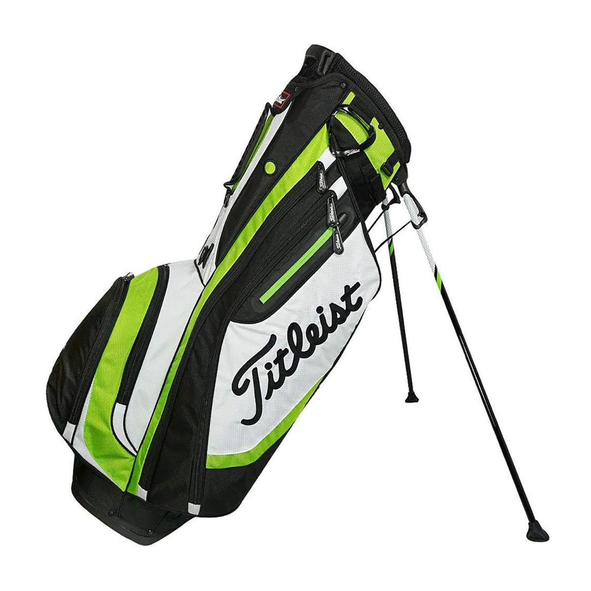 Titleist Lightweight 4-Way Stand Golf Club Bag with Backpack Strap, Lime Green by Titleist (Image #1)