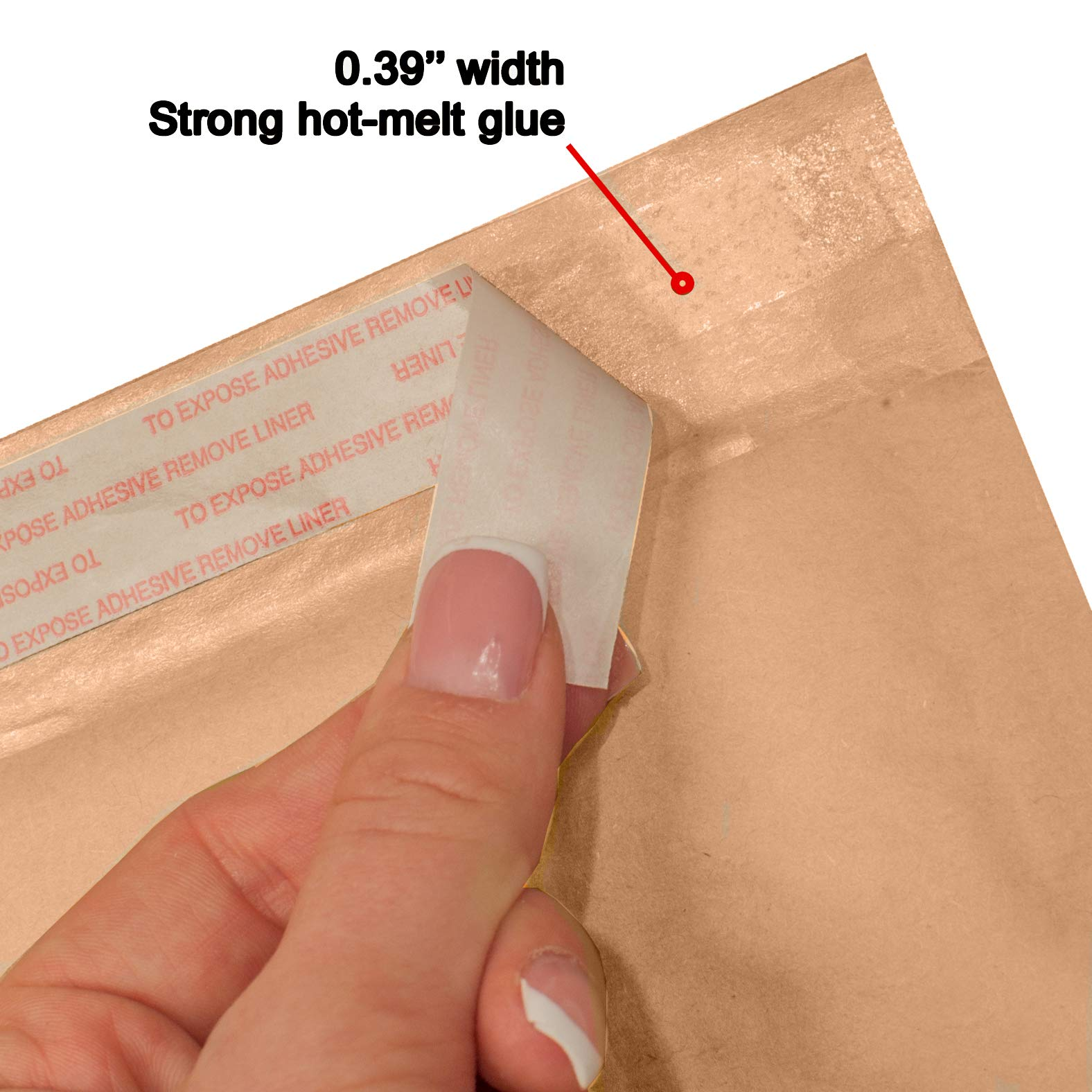 AMIFF Natural Kraft bubble mailers 14 x 20 Brown Padded envelopes 14 x 20 by Amiff. Pack of 10 Kraft Paper cushion envelopes. Exterior size 15 x 20 (15 x 20). Peel and Seal. Mailing, shipping. by Amiff (Image #8)