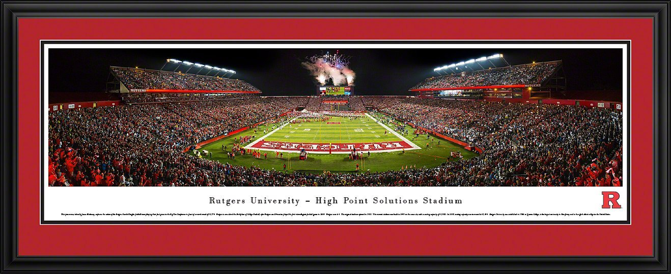 Rutgers Football - Blakeway Panoramas College Sports Posters with Deluxe Frame by Blakeway Worldwide Panoramas