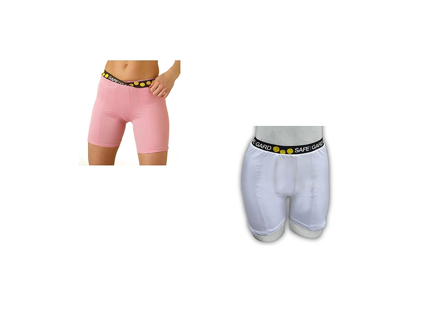SafeTGard Womens Regular-Rise Sliding Shorts 5 Colors Available 2 Pack Special