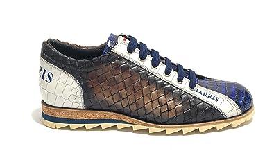 sports shoes a2414 669af Harris Scarpe Uomo Sneaker in Pelle Intreccio Santiago ...