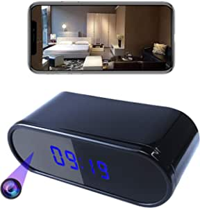 Spy hidden HD real-time camera clock WiFi wireless network cloud storage camera, with automatic night vision function, remote on/off function, etc. support IOS / Android system, more functions are as follows