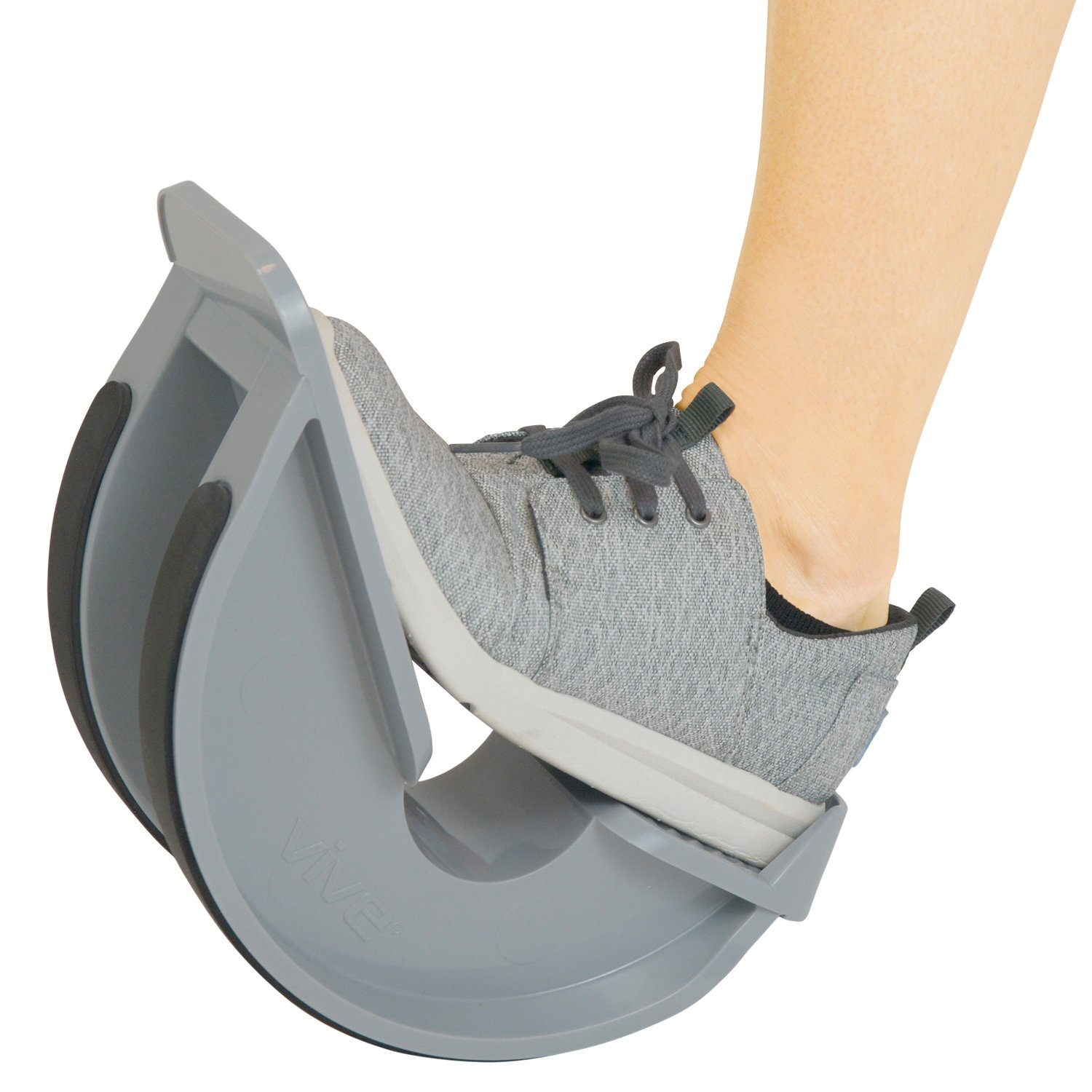 VIVE Foot Rocker - Calf Stretcher for Achilles Tendinitis, Heel, Feet, Shin Splint, Plantar Fasciitis Pain Relief - Stretches Strained Leg Muscle - Ankle Wedge Stretch Improves Flexibility (Single) by Vive Health
